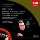 brahms symphony no.4 + variations on a theme by haydn - carlo maria giulini CD 2-discs 2004 emi