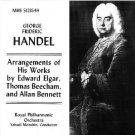 handel - arrangements of his works by elgar beecham and bennett - RPO & menuhin CD MHS used