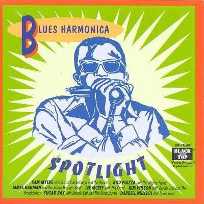 blues harmonica spotlight - various artists CD 1992 black top 16 tracks used mint