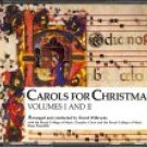 carols for christmas volumes I and II arr & condtd by david willcocks CD 2-discs 1985 rykodisc cbs