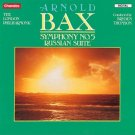 arnold bax - symphony no.5 - LPO + thomson CD 1989 chandos used mint