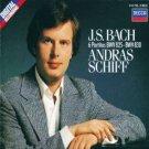 j. s. bach 6 partitas BWV 825 - BWV 830 - andras schiff CD 2-discs 1985 decca used mint