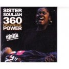 sister souljah - 360 degrees of power CD 1992 sony 13 tracks used