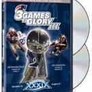 3 games to glory III - 2004 new england patriots super bowl XXXIX DVD 2005 NFL warner used