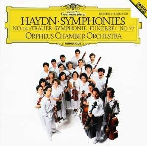 haydn symphonies 44 & 77 - orpheus chamber orchestra CD 1985 DG polydor used mint