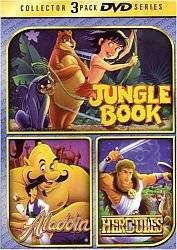 jungle book + aladdin + hercules 3-DVD set 2004 goodtimes new