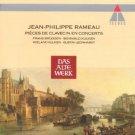 Rameau - Pieces De Clavecin en Concerts - bruggen kuijken kuijken leonhardt CD 1992 teldec used mint