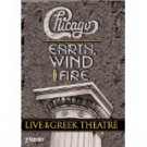 chicago + earth wind & fire live at the greek theatre DVD 2-discs 2004 image 172 mins used mint