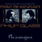 ravi shankar + philip glass - passages CD 1990 private 6 tracks used mint
