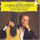 j.s. bach - suites sonata - goran sollscher CD 1992 Deutsche grammophon 18 tracks used mint