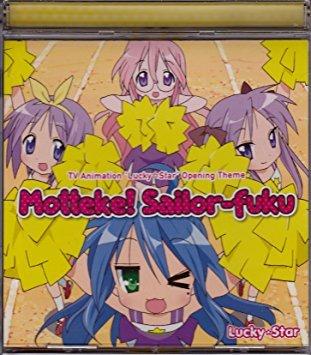 lucky star opening theme mattock! sailor-fuku CD 2007 lantis japan 4 tracks used mint