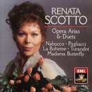 renata scotto - pera arias & duets CD 1986 emi angel 10 tracks used mint