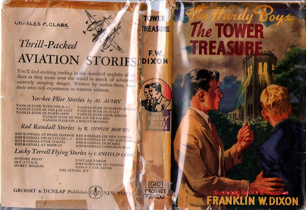 F W Dixon Hardy Boys # 1 The Tower Treasure  HB/DJ