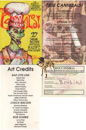 Rob Zombie TRUE CANNIBALS Limited Ed. Signed in BLOOD!