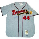 Hank Aaron Autographed 1957 Grey Milwaukee Braves Replica Jersey