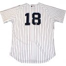 Johnny Damon Autographed On Back Authentic Home NY Yankees Jersey