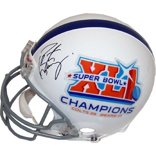 Peyton Manning Autographed Colts/Super Bowl XLI Helmet