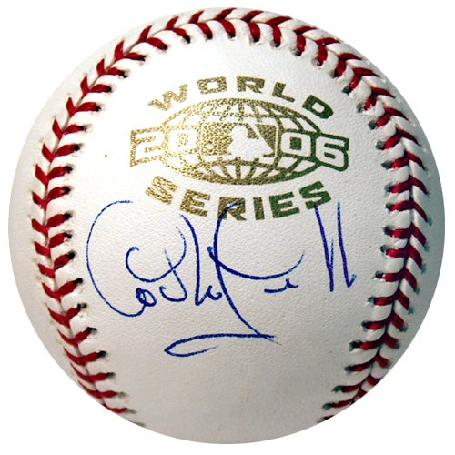 Carlos Guillen Autographed 2006 World Series Baseball