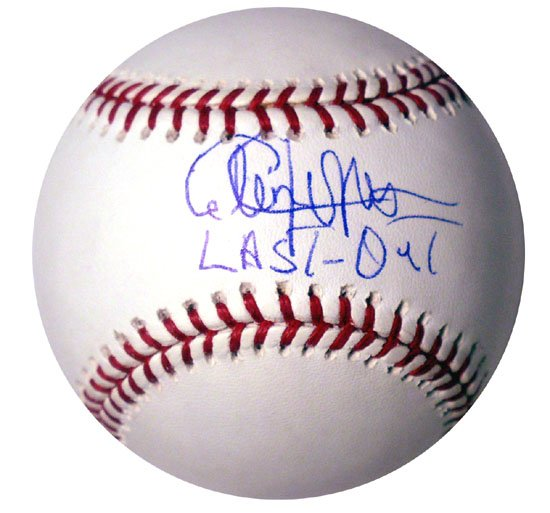 "Cleon Jones Hand Signed ""Last Out"" Baseball"