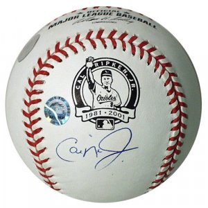 Cal Ripken, Jr. Autographed Commemorative Retirement Baseball