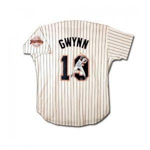 Tony Gwynn Autographed San Diego Padres -Jolene Jessie- Hand Painted Home/White Jersey (UDA)