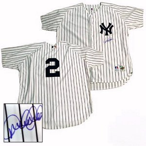 Derek Jeter Hand Signed Yankees Home Jersey