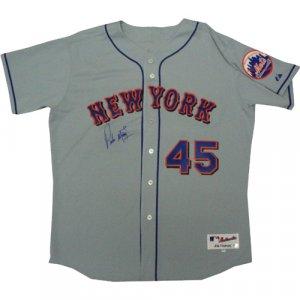 Pedro Martinez Autographed Mets Away Grey Jersey