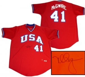 Mark McGwire Hand Signed USA Jersey