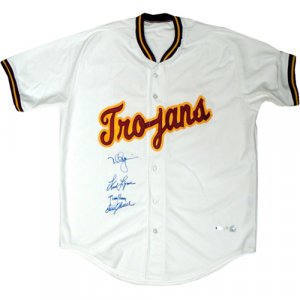 Mark McGwire, Tom Seaver, Randy Johnson & Fred Lynn Signed USC Trojans Jersey