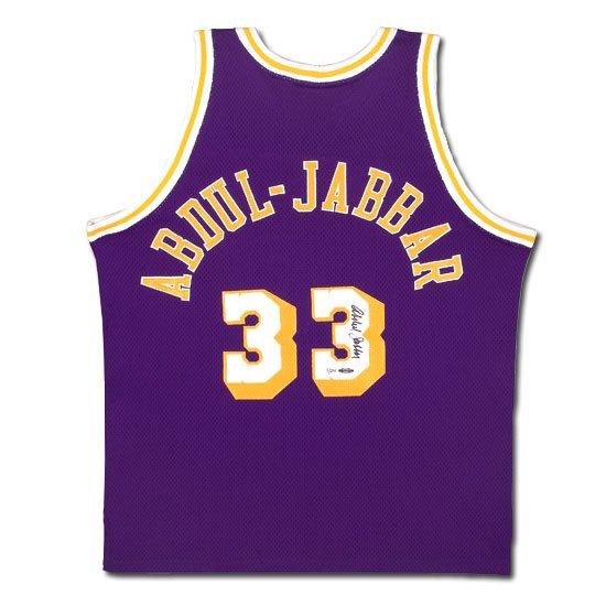 Kareem Abdul-Jabbar Autographed Lakers Mitchell & Ness -1979-80 Model- Away/Purple Jersey (UDA)