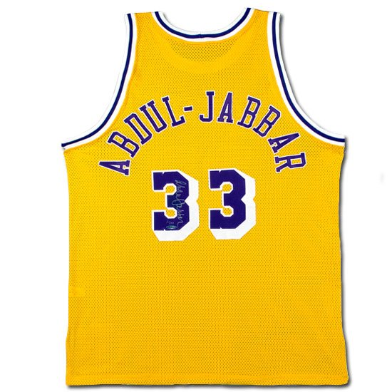 Kareem Abdul-Jabbar Autographed Lakers Mitchell & Ness -1979-80 Model- Home Gold Jersey (UDA)