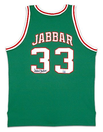 Kareem Abdul-Jabbar Signed Bucks Mitchell & Ness -1971-72 Model- Away/Green Jersey (UDA)