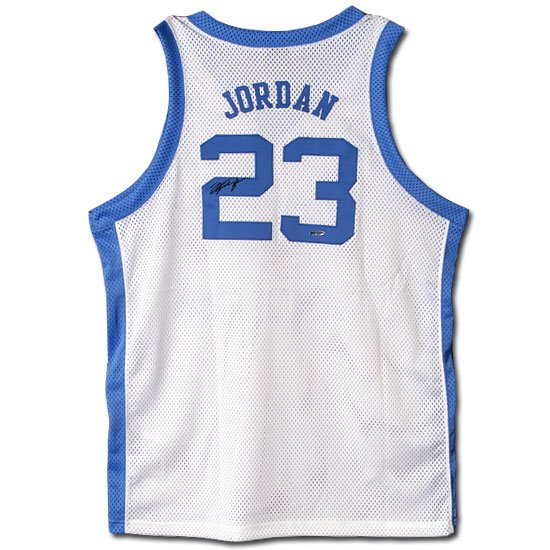 Michael Jordan Autographed University of North Carolina Home/White Jersey (UDA)