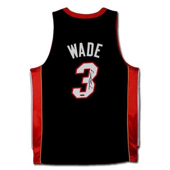 Dwyane Wade Autographed Miami Heat Away/Black Jersey (UDA)