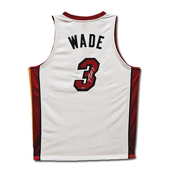 Dwyane Wade Autographed Miami Heat Home/White Jersey (UDA)