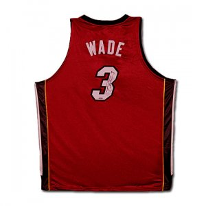 Dwyane Wade Autographed Miami Heat Alternate/Red Jersey (UDA)
