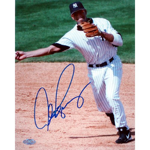 Alex Rodriguez Autographed Throwing 8x10 Photograph