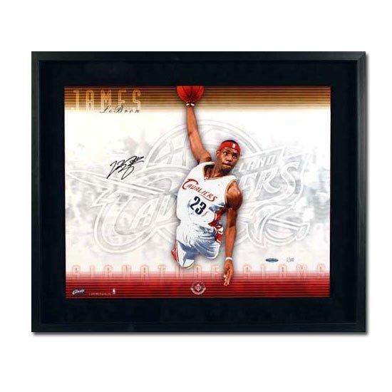 Lebron James Autographed Cleveland Cavaliers -Signature Slam- 16x20 Photo - Framed (UDA)