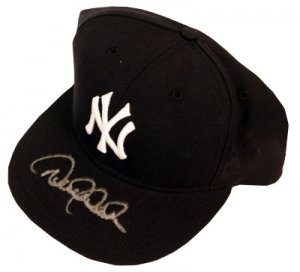 Derek Jeter Signed New York Yankees Authentic Hat Steiner