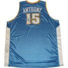 Carmelo Anthony Autographed Authentic Away Blue Nuggets Jersey