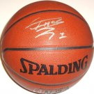 Tracy McGrady Signed Indoor/Outdoor NBA Spalding Basketball Houston Rockets