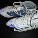 GAME WORN SIGNED STEVE SLATON CLEATS 2008 HOUSTON TEXANS