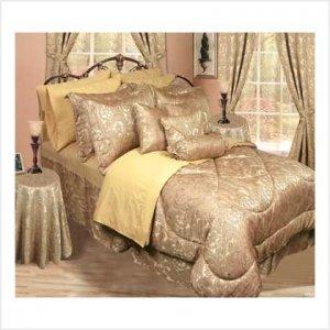 Full/ Queen 30 pc Bedroom-in-a-Bag Gold