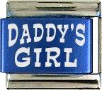 Daddy's Girl Blue Laser Italian Charm