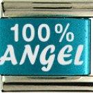 100% Angel Turquoise Laser Italian Charm