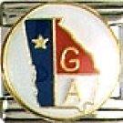 Georgia State Flag Italian Charm