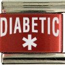 Diabetic Red Italian Laser Charm