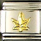 Gold Leaf Italian Charm