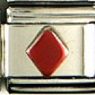 Red Diamond Italian Charm