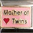 Mother of Twins Italian Charm